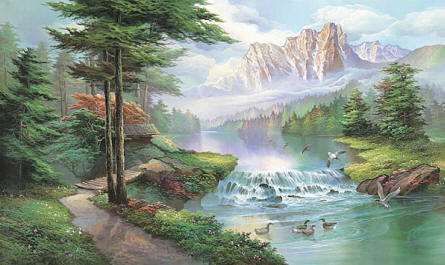Misty Waters Wall Mural 1618