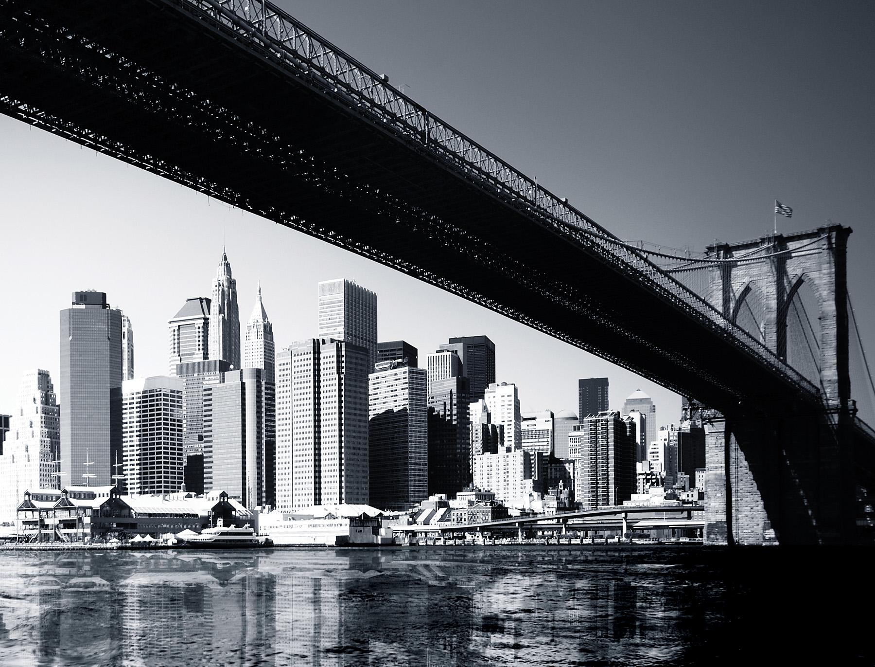 Brooklyn bridge mural for Brooklyn bridge black and white wall mural
