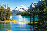Canadian Mountains Wall Mural