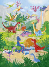 Dino World Wall Mural by Ideal decor DM430