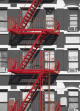 Fire Escape Wall Mural by Ideal decor DM432