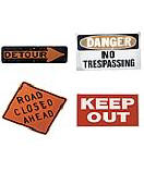 4 pack Precut Signs wallpaper wall mural