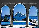 Pool and Arches Large tropical Wall Murals