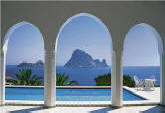 Pool and Arches, Mallorca Wall Mural 8-067 by Komar