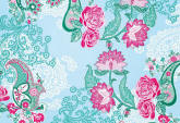 Paisley Rose 8-739 Wall Mural by Komar