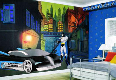 Batman bz9463m wall mural for Batman bedroom wall mural