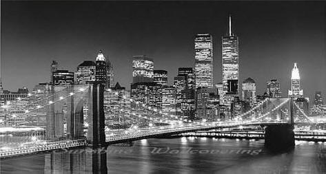 Brooklyn Bridge Wall Mural Black & White 658 by Ideal Decor