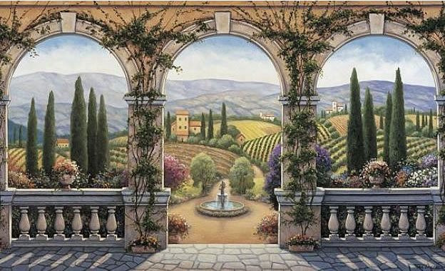 Tuscan Villa C828 Wall Mural by Environmental Graphics