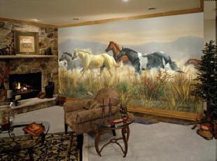 Band of thunder wall mural c859 by environmental graphics for Environmental graphics wall mural