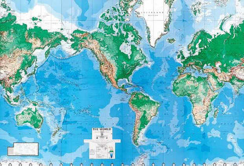 Deluxe Laminated Executive World Map C900 by Environmental Graphics