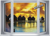 Sunset Resort Peel and Stick Wall Mural