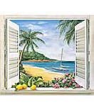 Tropical Window wallpaper tropical wall mural