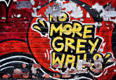 No More Grey Walls Wall Mural DM126