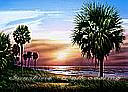 Palmetto Sunrise york wallpaper sunset wall mural