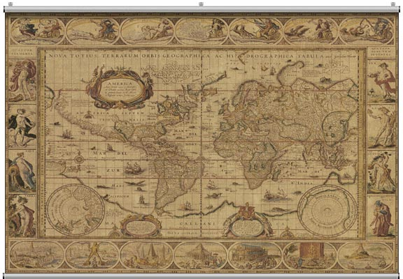 antique map wall mural 2