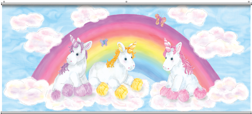 BABY UNICORN WALL MURAL