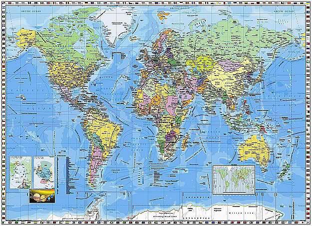world map wallpaper mural. World Map Wall Mural PR94055