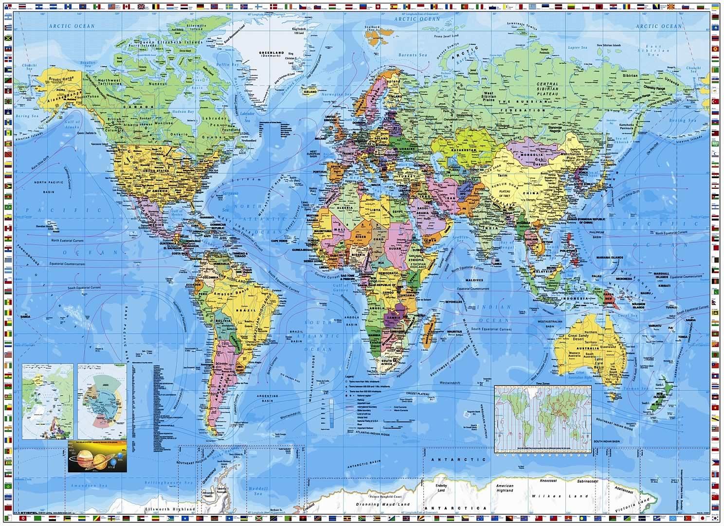 World Map Wall Mural PR94055