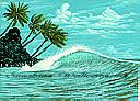 Hang Ten RA0119M york wallpaper tropical wall mural