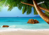 Secluded Beach Peel & Stick Canvas Wall Mural