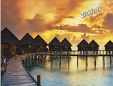 Beach Resort Sunset Peel & Stick Wall Mural