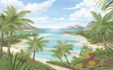 Tropical Beach Mural 252-72021