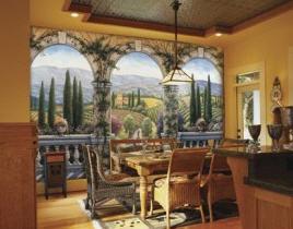 Tuscan Villa C828 Wall Mural By Environmental Graphics