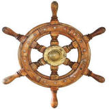 Ship Wheel Accent Mural