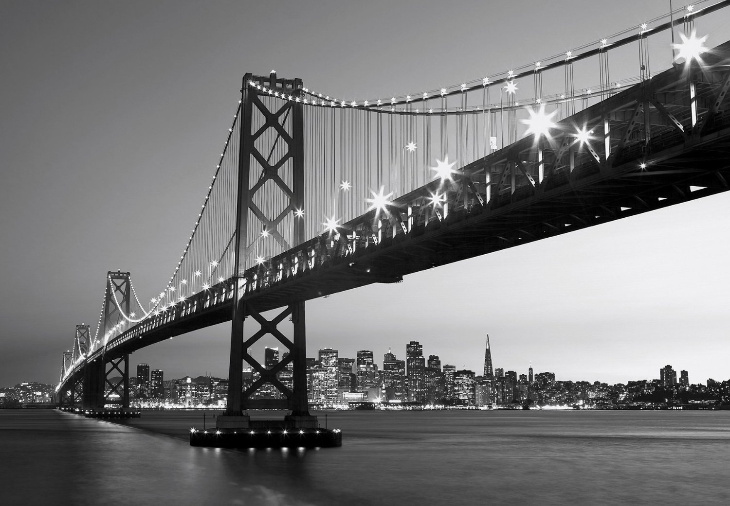 San francisco skyline wall mural dm134 for Bay view wall mural