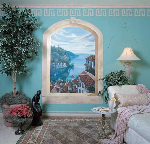 mediterranean villas wall mural themuralstore com