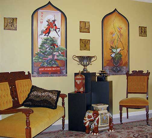 Large Niche Decorating Ideas: Oriental Niches 20268 Wall Mural