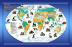 A World Of Animals Wall Map Childrens wall murals