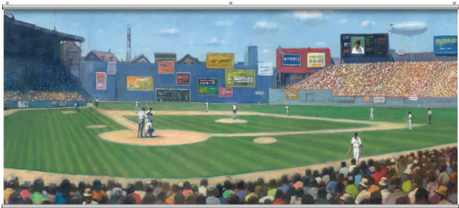 Basebal wall mural for Baseball field wall mural