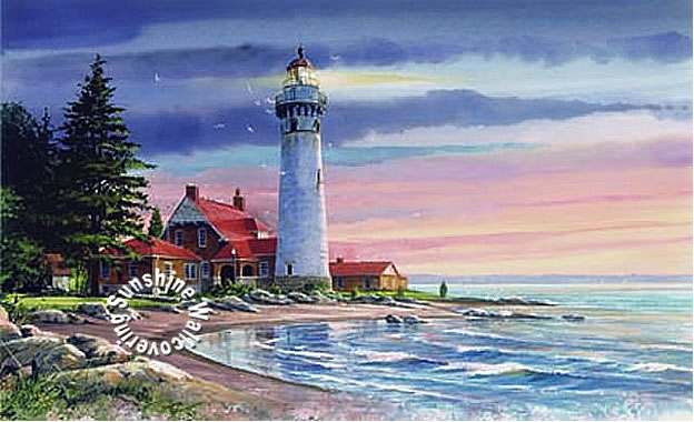 Northern Lighthouse Mural Ra0191m