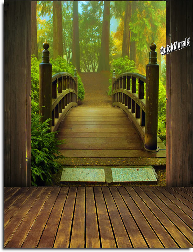 Enchanted forest peel stick wall mural for Enchanted forest bedroom wall mural