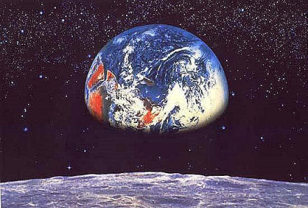 Earth moon 8 019 komar wall murals for Earth rising wall mural