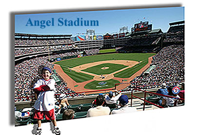 La angels of anahiem angel stadium for Baseball stadium mural