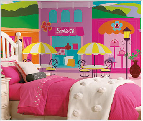 Barbie wall mural jl1187m for Barbie wall mural