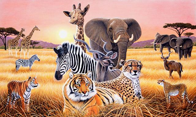 Safari ii wall mural c871 by environmental graphics for Environmental graphics giant world map wall mural