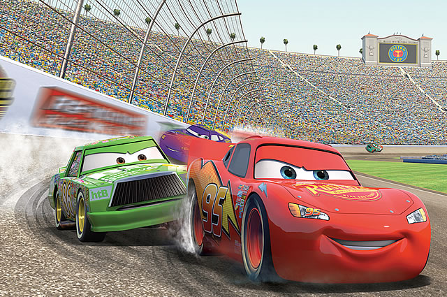 Disney cars wall mural by roommates for Disney cars wall mural