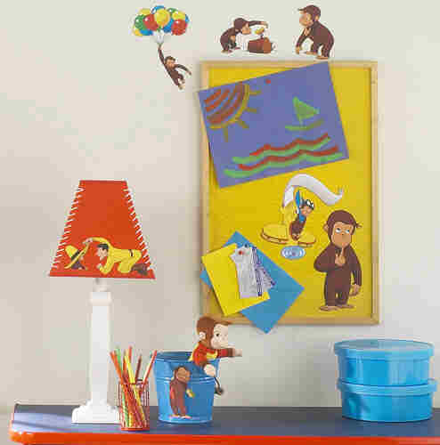 Curious george wall mural for Curious george mural