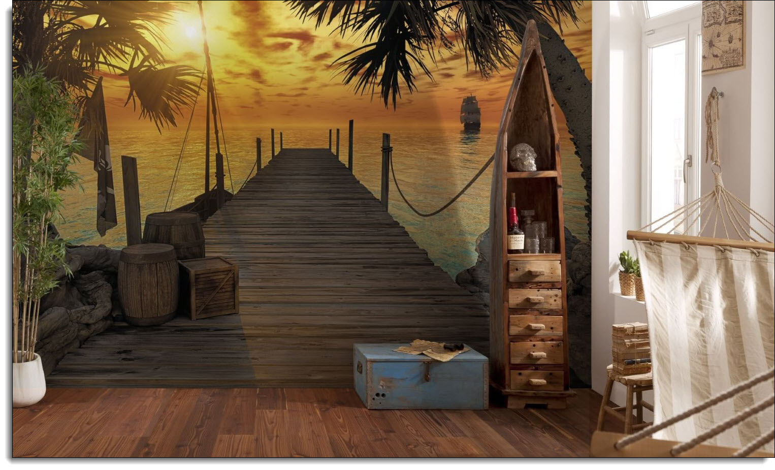 Treasure island dock wall mural amipublicfo Images