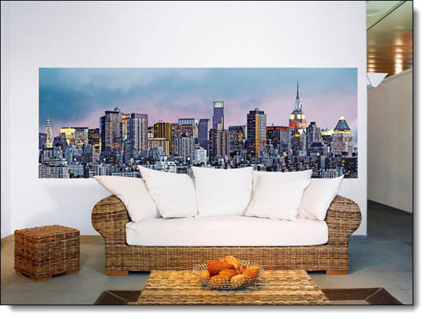Manhattan cityscape wall mural for Cityscape wall mural