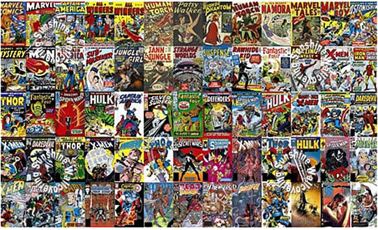 Marvel Comic Book Covers Jl1176m Wall Mural