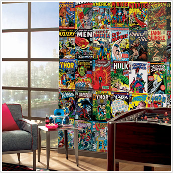 marvel comic book covers jl1176m wall mural