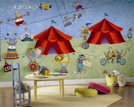 Big top circus xl wall mural jl1183m for Circus wall mural