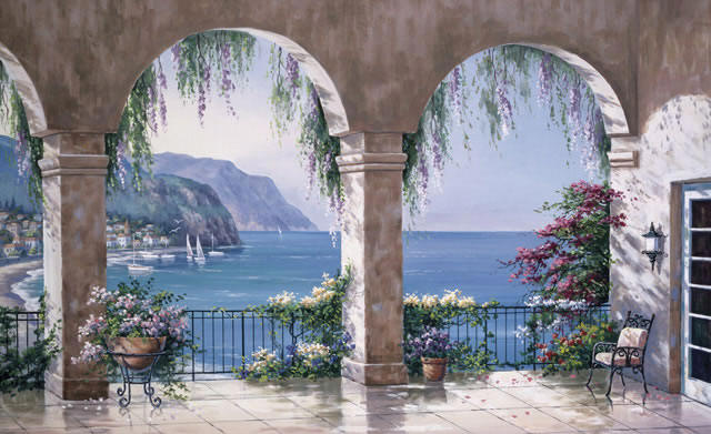 Mediterranean Arch C834 Wall Mural by Environmental Graphics