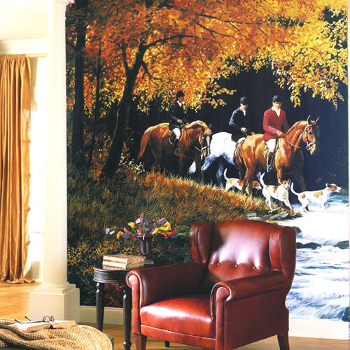 Traditional Hunt Scene Mural RA0175M by York
