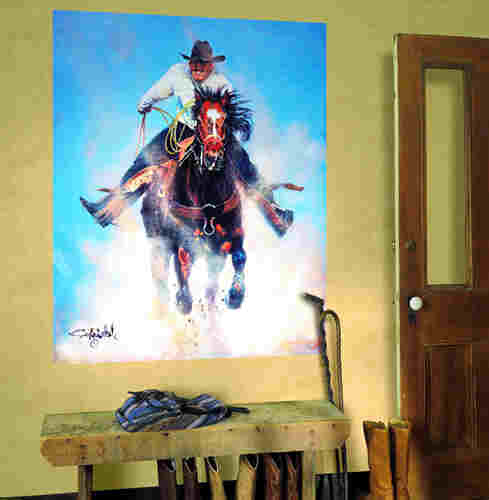 cowboy ropin wall mural wall mural cowboy cowboy horse shape pixersize com