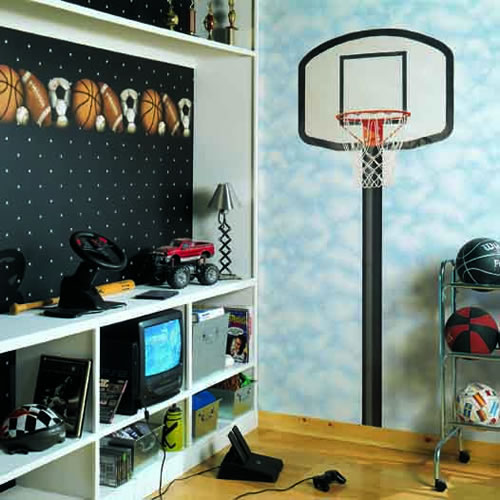 Bh1776m basketball hoop mural for Basketball mural wallpaper